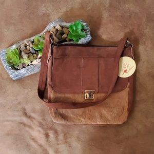 Lispeer Kangaroo Hide Shoulder Bag